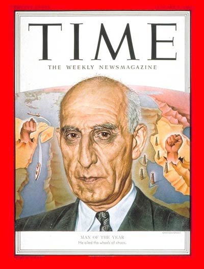 TIME Magazine Cover: Mohammed Mossadeg, Man of the Year -- Jan. 7, 1952