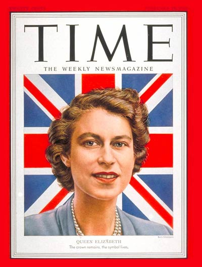TIME Magazine Cover: Queen Elizabeth II -- Feb. 18, 1952