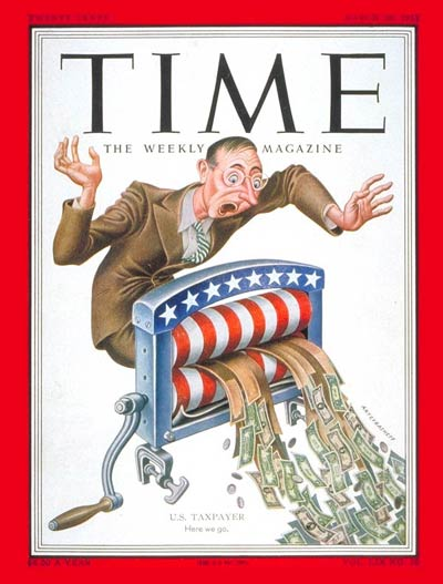 TIME Magazine Cover: U.S. Taxpayer -- Mar. 10, 1952