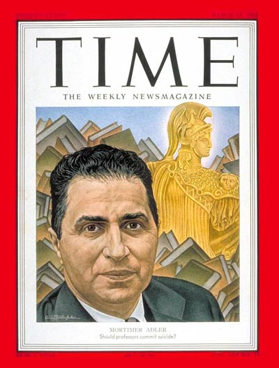 TIME Magazine Cover: Mortimer Adler -- Mar. 17, 1952