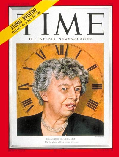 TIME Magazine Cover: Eleanor Roosevelt -- Apr. 7, 1952