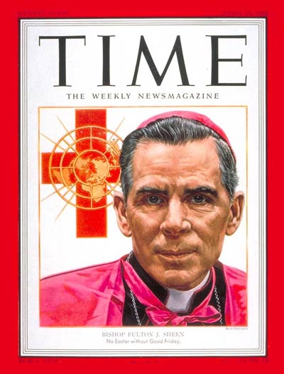 TIME Magazine Cover: Bishop Fulton Sheen -- Apr. 14, 1952