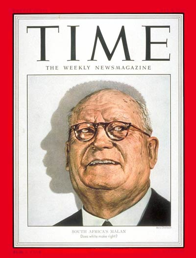 TIME Magazine Cover: Daniel F. Malan -- May 5, 1952