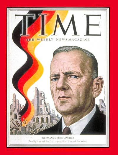 TIME Magazine Cover: Kurt Schumacher -- June 9, 1952