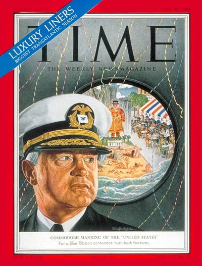 TIME Magazine Cover: Commodore Manning -- June 23, 1952