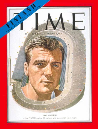TIME Magazine Cover: Bob Mathias -- July 21, 1952