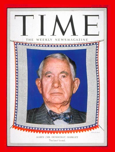 TIME Magazine Cover: Alben Barkley -- July 28, 1952