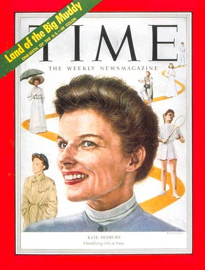 TIME Magazine Cover: Katharine Hepburn -- Sep. 1, 1952