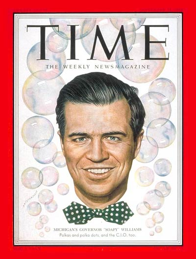 TIME Magazine Cover: G. Mennen Williams -- Sep. 15, 1952