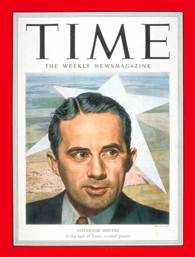 TIME Magazine Cover: Allan Shivers -- Sep. 29, 1952