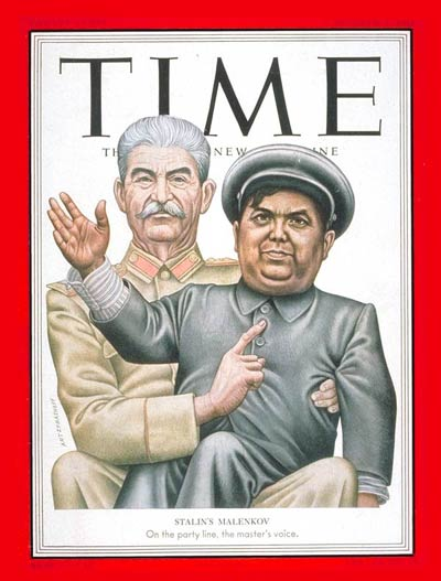 TIME Magazine Cover: Joseph Stalin and Gregory Malenkov -- Oct. 6, 1952