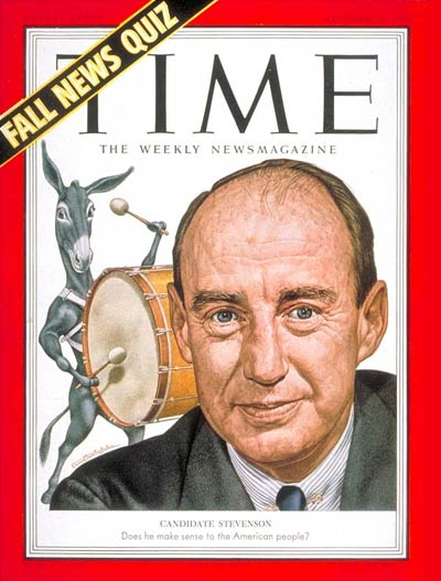 TIME Magazine Cover: Adlai Stevenson -- Oct. 27, 1952