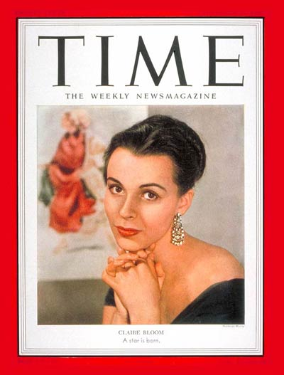 TIME Magazine Cover: Claire Bloom -- Nov. 17, 1952