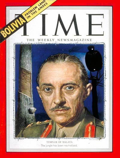 TIME Magazine Cover: Sir Gerald Templer -- Dec. 15, 1952