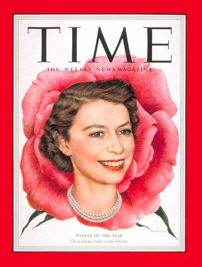 TIME Magazine Cover: Queen Elizabeth II, Woman of the Year -- Jan. 5, 1953