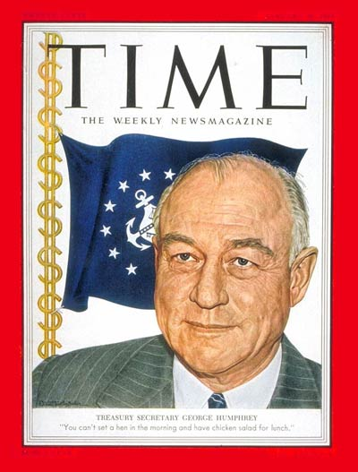 TIME Magazine Cover: George Humphrey -- Jan. 26, 1953