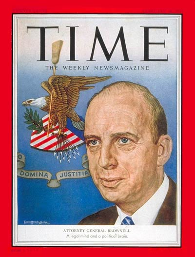 TIME Magazine Cover: Herbert Brownell -- Feb. 16, 1953