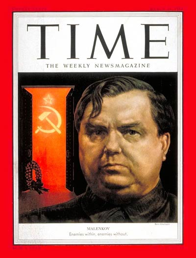TIME Magazine Cover: Gregory M. Malenkov -- Mar. 23, 1953