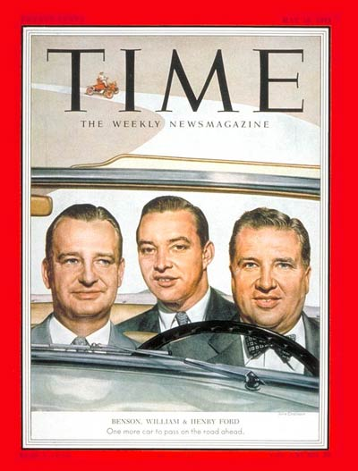 TIME Magazine Cover: William, Benson and Henry Ford -- May 18, 1953