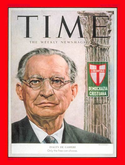 TIME Magazine Cover: Alcide de Gasperi -- May 25, 1953
