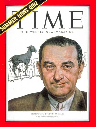 TIME Magazine Cover: Lyndon B. Johnson -- June 22, 1953