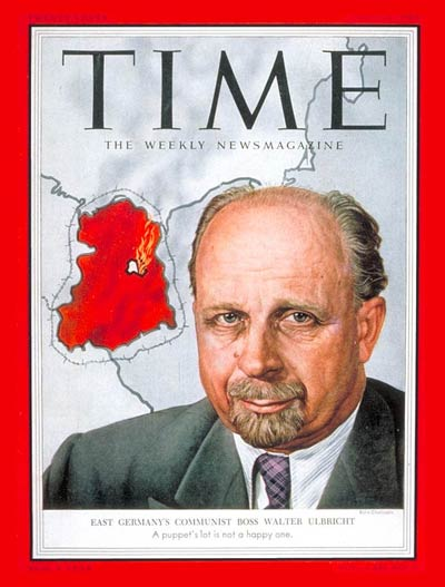 TIME Magazine Cover: Walter Ulbricht -- July 13, 1953