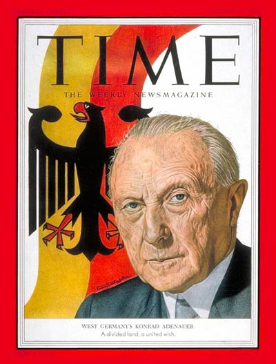 TIME Magazine Cover: Konrad Adenauer -- Aug. 31, 1953