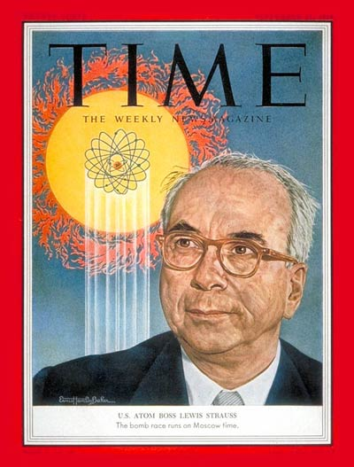 TIME Magazine Cover: Lewis L. Strauss - Sep. 21, 1953 - Navy ...