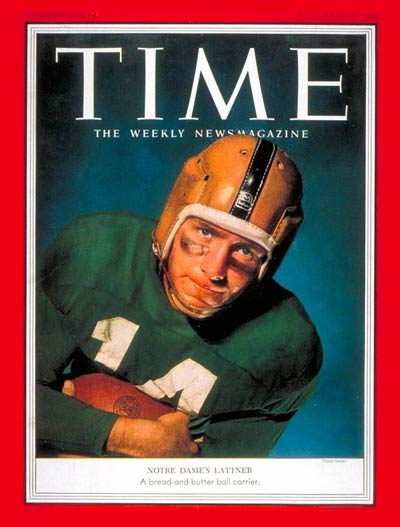 TIME Magazine Cover: John Lattner -- Nov. 9, 1953