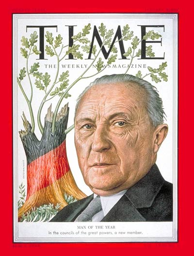 TIME Magazine Cover: Konrad Adenauer, Man of the Year -- Jan. 4, 1954