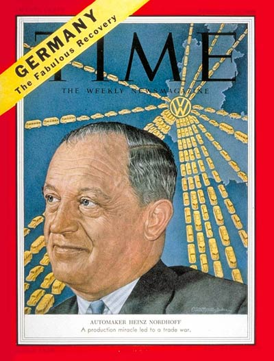 TIME Magazine Cover: Heinz Nordoff -- Feb. 15, 1954