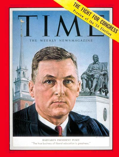 TIME Magazine Cover: Nathan M. Pusey -- Mar. 1, 1954