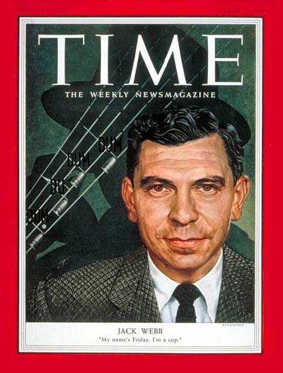 Jack Webb Star of the TV show Dragnet