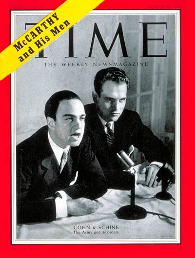 Image result for Schine and Cohn appeared on the cover of TIME