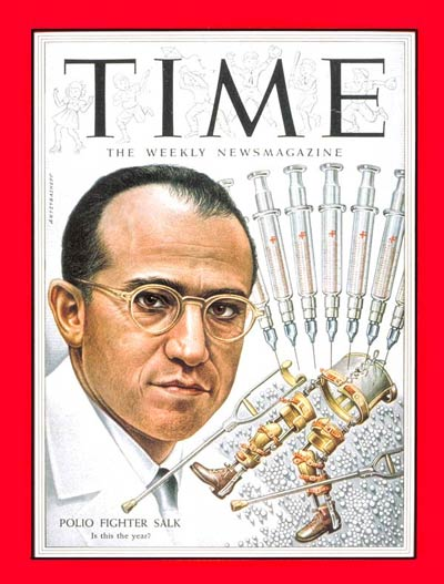 TIME Magazine Cover: Dr. Jonas Salk -- Mar. 29, 1954