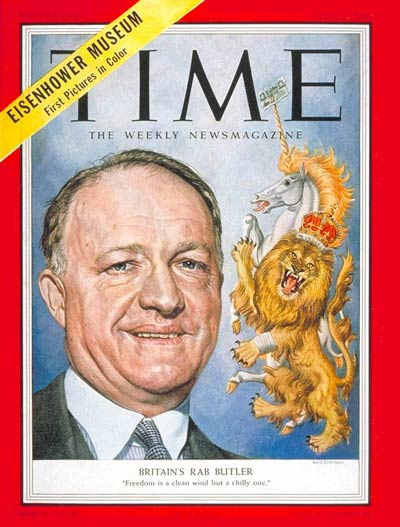 TIME Magazine Cover: Richard A. Butler -- Apr. 5, 1954