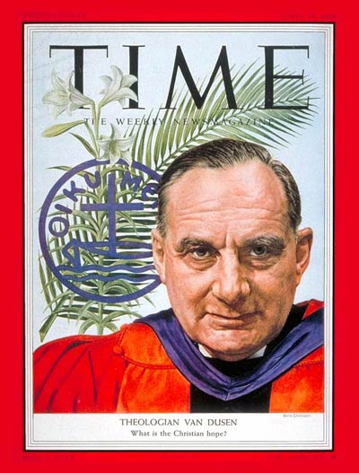 TIME Magazine Cover: Henry P. Van Dusen -- Apr. 19, 1954