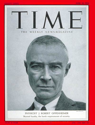 TIME Magazine Cover: J. Robert Oppenheimer -- June 14, 1954