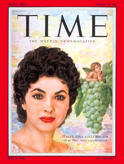 TIME Magazine Cover: Gina Lollobrigida -- Aug. 16, 1954