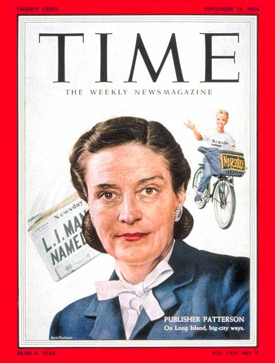 TIME Magazine Cover: Alicia Patterson -- Sep. 13, 1954