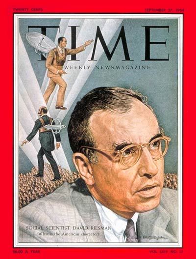 TIME Magazine Cover: David Reisman -- Sep. 27, 1954