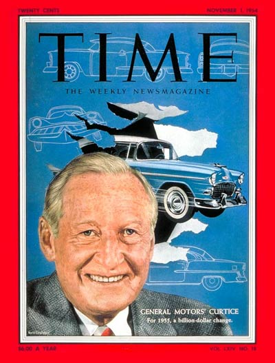 TIME Magazine Cover: Harlow H. Curtice -- Nov. 1, 1954