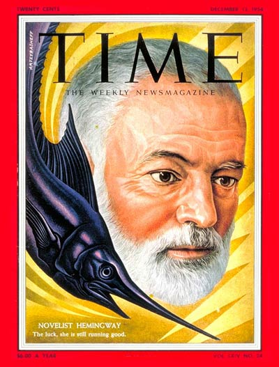 TIME Magazine Cover: Ernest Hemingway -- Dec. 13, 1954