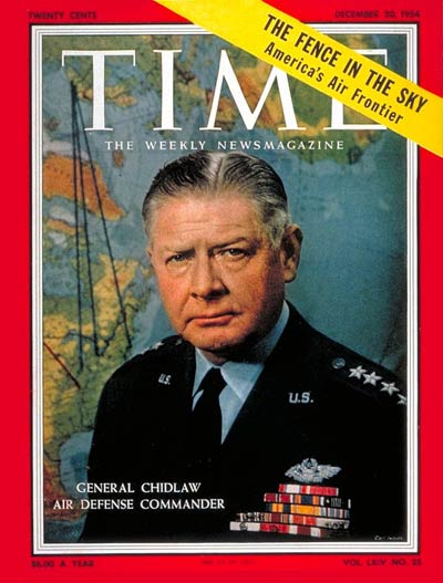 TIME Magazine Cover: General Benjamin Chidlaw -- Dec. 20, 1954