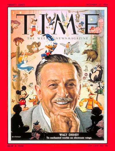 TIME Magazine Cover: Walt Disney -- Dec. 27, 1954
