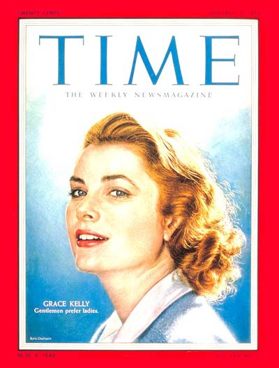 TIME Magazine Cover: Grace Kelly -- Jan. 31, 1955