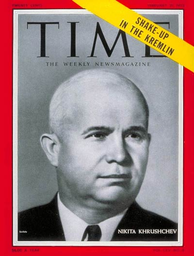 TIME Magazine Cover: Nikita Khrushchev -- Feb. 21, 1955