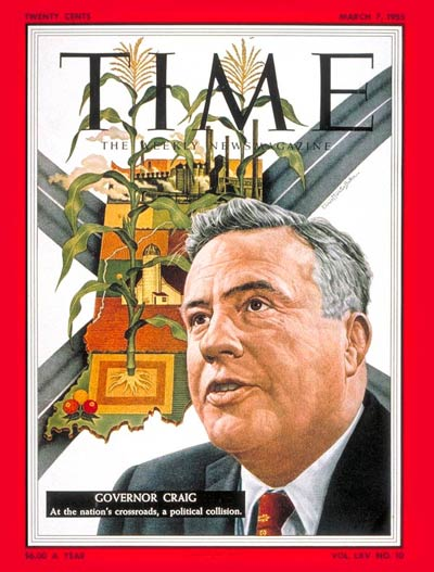 TIME Magazine Cover: Gov. George Craig -- Mar. 7, 1955