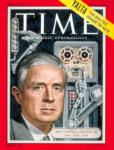 TIME Magazine Cover: Thomas J. Watson, Jr. -- Mar. 28, 1955