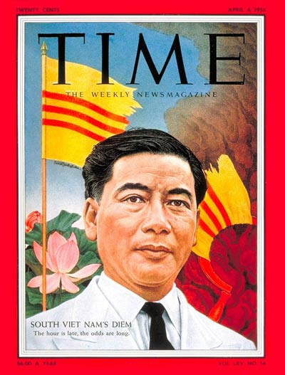 TIME Magazine Cover: Ngo Dinh Diem -- Apr. 4, 1955